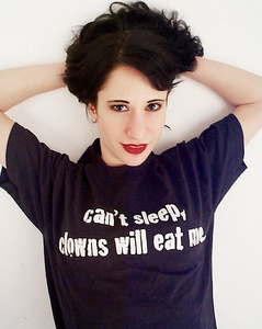 cant sleep clowns will eat me t-shirt worn by tia