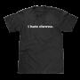 i hate clowns text t-shirt